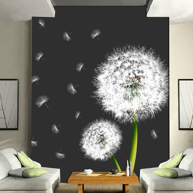 Custom 3D photo wallpaper large mural wallpaper romantic dandelion backdrop 3d nature wallpapers #Affiliate