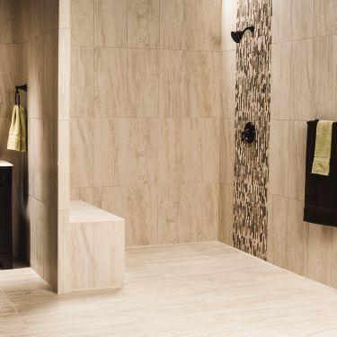Attractive Easy Access Line Drain Shower With KERDI BOARD Waterproof Panels | Schluter .ca