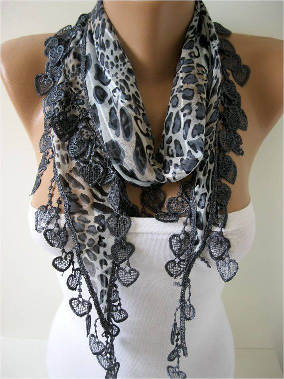 Elegant  Cotton Scarf with Trim Edge Gift Scarf by MebaDesign, $13.90