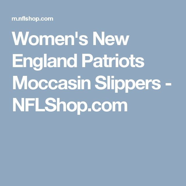 Women's New England Patriots Moccasin Slippers - NFLShop.com