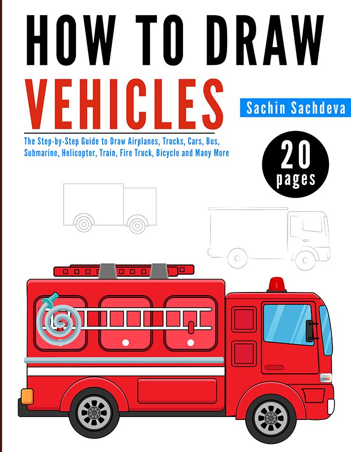 HOW TO DRAW VEHICLES is a step-by-step guide, easy to use drawing book which shows how simple it is to draw your favorite vehicles like Car, Truck, Train, Bicycle, Airplane, Fire Truck and many more.