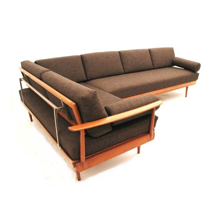 Wilhelm Knoll; Teak 'Antimott' Sectional Sleeper Sofa for ...