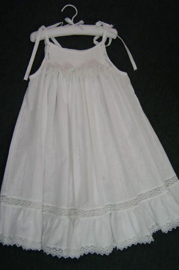 Not only does this page have Directions for smocked sundress using a bishop pattern, it has lots of cute summer ideas.: