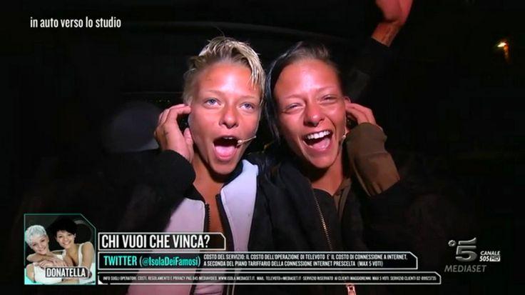 Le Donatella in trionfo a l'Isola dei famosi