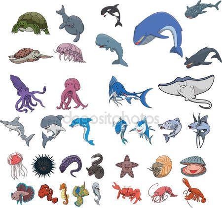 다운로드 - 바다 동물 수 중 — 스톡 일러스트 #86906612