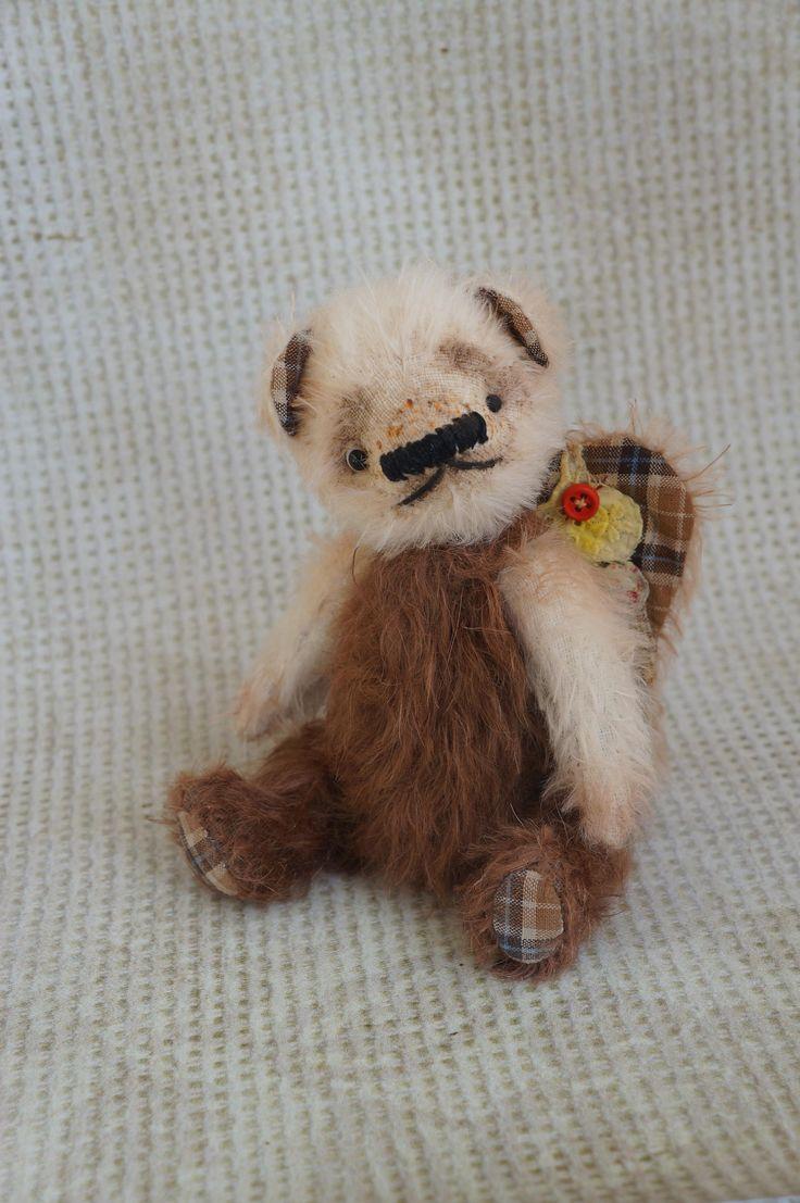 OOAK Earth Angel Bear, Teddy bears, little angel, angel teddy bear, soft toy teddy bear, Teddy Bear artists , OOAK teddy bear with by RussianshawlRustic on Etsy