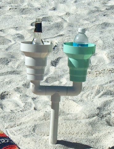 Beach Cup Holder- Amazing Beach Cup Holder keeps your drink clean and fresh and close by at the beach. Works in your car too! Keep your drin...