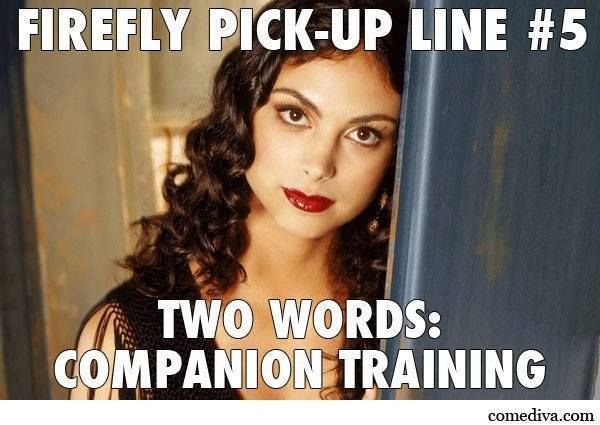 Cheeky! #firefly / Meet Morena Baccarin at #SLCC15!