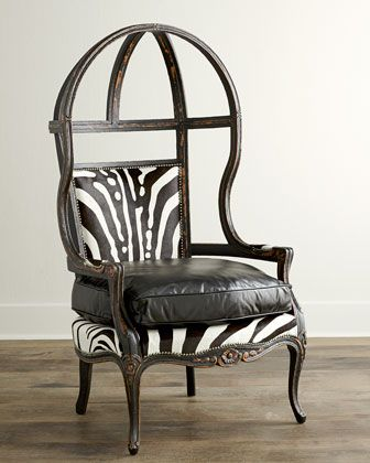 Zebra Balloon Chair by Old Hickory Tannery at Neiman Marcus.