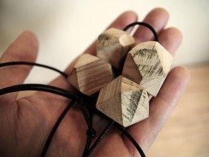 Recycled Hardwood Chunky Timber Jewellery.