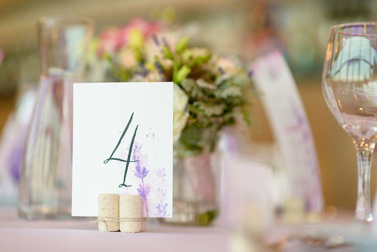 Ani&Szili wedding - lavender decoration - table number