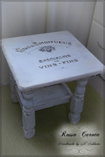 DIY table with Fine Wine French Graphics via Graphics Fairy.
