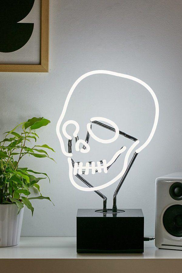 Neon Skull Table Lamp