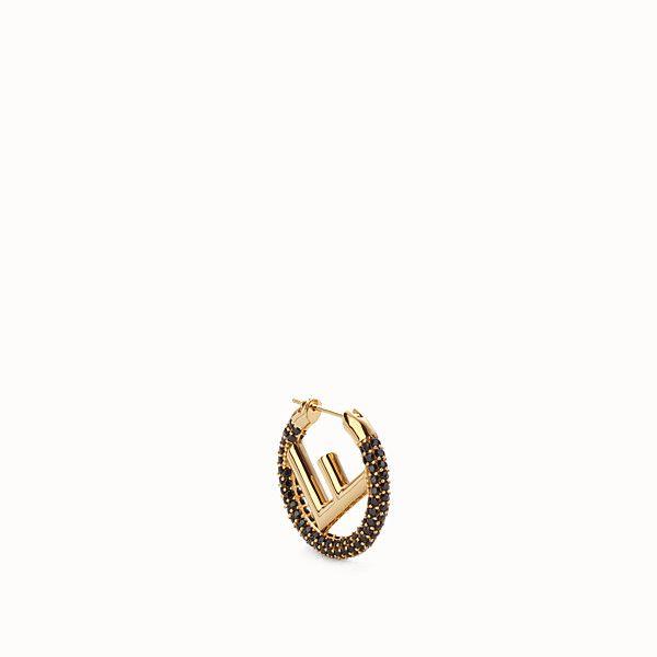 38b7d04d9ad3 FENDI F IS FENDI EARRING - Gold coloured earring - view 1 small thumbnail.  Bu Pin i ...
