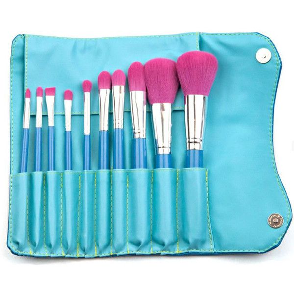 Morphe Vegan 10 Piece Brush Set 680 (30 AUD) ❤ liked on Polyvore featuring beauty products, makeup, makeup tools, makeup brushes, morphe makeup brushes, set of makeup brushes and set of brushes