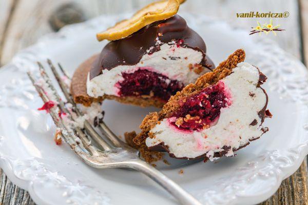 Пирожное Зефир в шоколаде,разрез