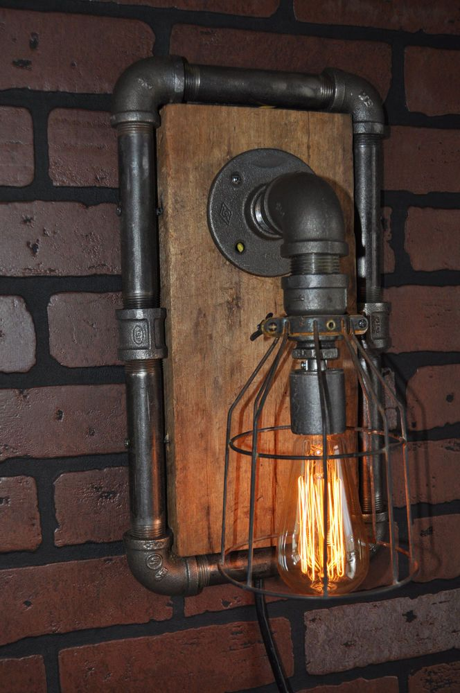 Industrial Machine Age Steampunk wall sconce/lamp