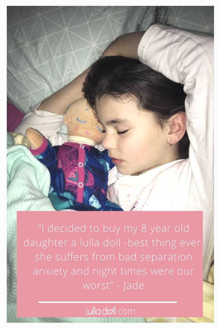 """She would cry for up to 2-3 hrs wanting me and scared of me leaving her, I tried everything. I thought it wouldn't hurt giving it a go..My daughter named it Harper Jade, and we sprayed it with some of my perfume and she is asleep within 20mins no crying no getting out of bed, it's amazing, she took it to school yesterday and she left it in her bag and she said when she missed me just went and hugged Harper and smelt her and she felt better.This doll is amazing for older children as well""…"