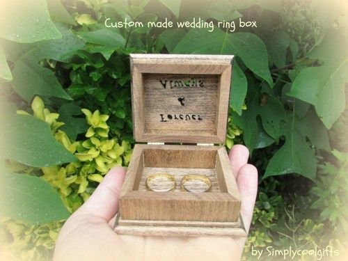 THIS IS A SMALL JEWELRY BOX, THE PERFECT SIZE FOR A RING PILLOW BOX ON YOUR WEDDING DAY!    jewelry box   Welcome to Simplycoolgifts!   This ring box is a sample and it's made to order! I use beech wo