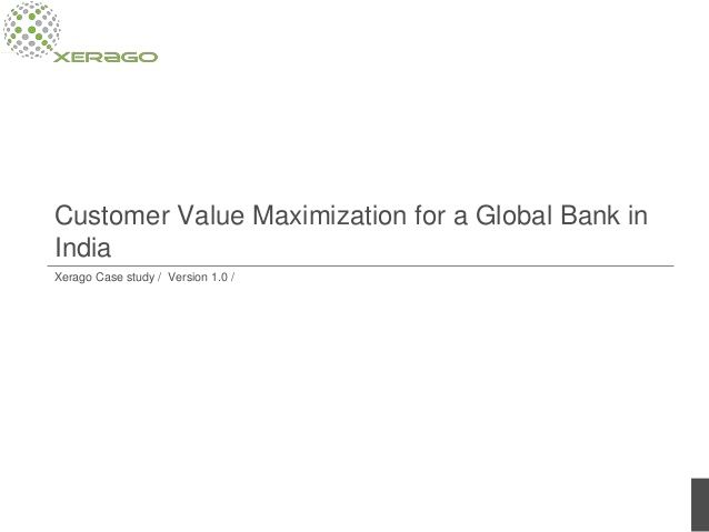 Banks today are faced with multiple marketing challenges owing to the proliferation of digital marketing. To keep up with the competition, they need to adopt digital strategies that will not only interest new customers but also make transition for existing customers smoother. Xerago's high performance marketing framework Customer Value Maximization helped a global bank overcome these challenges with minimal interventions http://www.slideshare.net/xerago/citibank-cvm-case-study-ver-14