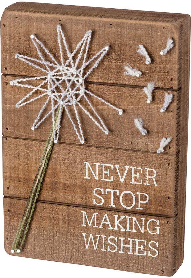 Wishes String Art Box Sign Crafts Stringart Ad Makeawish