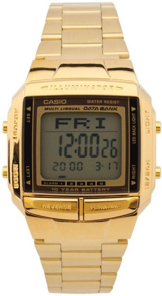 Casio Gold Db360gn9aef Digital Bracelet Gold Watch