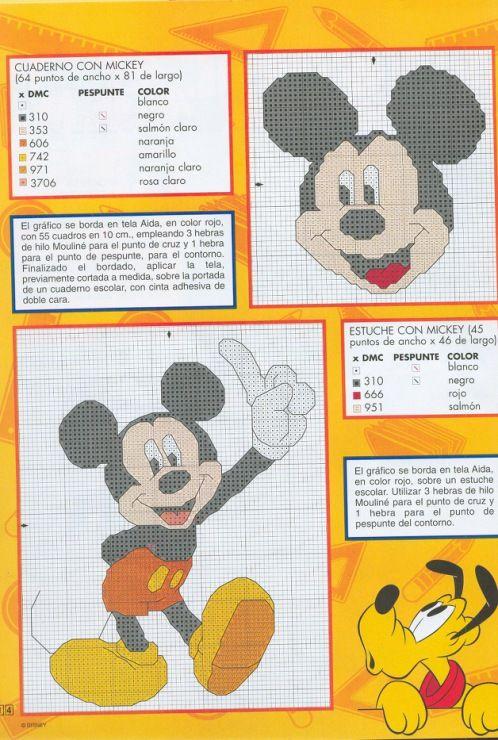 1 punto de cruz disney 1 anfisa1 - Alfombras mickey mouse ...