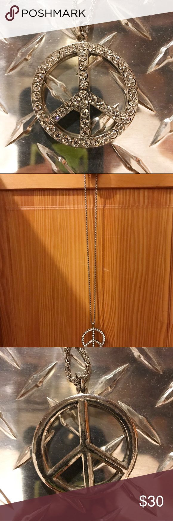Peace Sign Necklace Reversible peace sign necklace! Very versatile and can dress up or down any outfit, depending on which side you use! Jewelry Necklaces