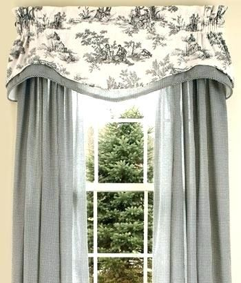 Shower CurtainsFrench Toile Curtain Black Curtains In Red For The Living Room Country Layered French And White