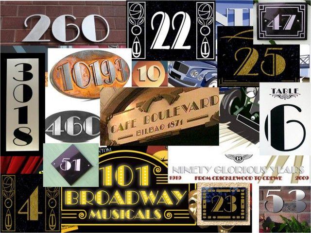 Ejemplos de números con la fuente Broadway