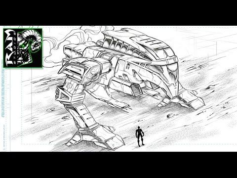 Drawing A Mech Warrior in Sketchbook Pro 7 - Narrated by Robert Marzullo