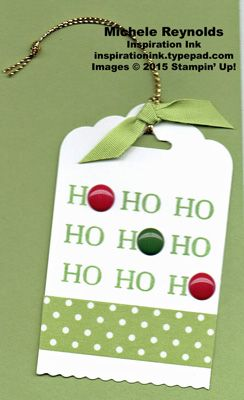 One of the tags we made in my December Club Classes.  It's pictured against a piece of card stock so that it is easier to see.  For all the details, please visit my blog at http://inspirationink.typepad.com/inspiration-ink/2015/12/oh-what-fun-gift-tags.html.  Thanks.