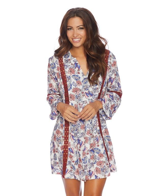 In a maroon floral pattern with a cream base, the Ella Moss Folktale Floral Tunic is the perfect tunic to pair with jeans or worn by itself.ONEDAYSALE  Special Deal #swimwear #swimsuit http://www.planetgoldilocks.com/swimwear  #bikini #planetgoldilocksfashions #planetgoldilocksswimwear  Flash Sale - Additional 50% off of sale items + Free Shipping &      Exchanges with code ADD50