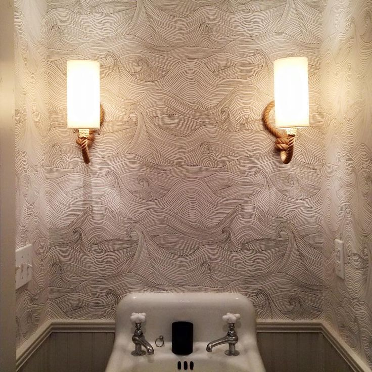 Inspiration Web Design  ucFour weeks after their trip across the ocean our little rope sconces are finally installed in our tiny downstairs bathroom I could not be happier about u ud