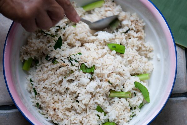 Grilled Fragrant Rice, Nasi Bakar Step by Step