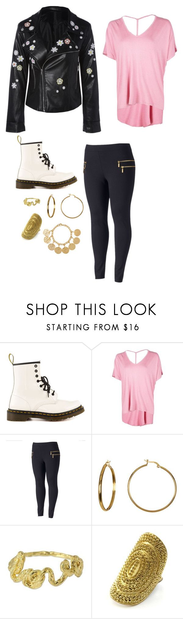 """Flower Power"" by riley-specht ❤ liked on Polyvore featuring Dr. Martens, Boohoo, Jennifer Lopez, Argento Vivo, NOVICA, Kenneth Jay Lane and plus size clothing"