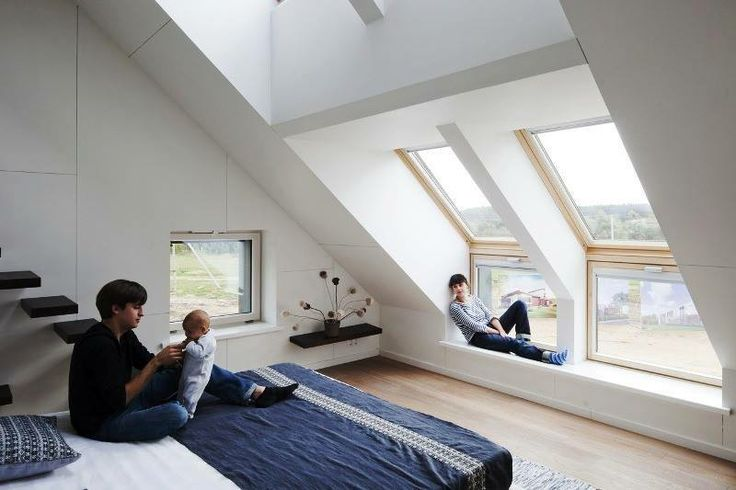 New generation VELUX sloping and vertical combinations windows make a stunning feature. Suitable for storey and a half houses, you can choose from single, twin and triple installations.
