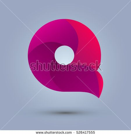 Letter Q icon design and elegant typographic concept icon. gradient purple and red color