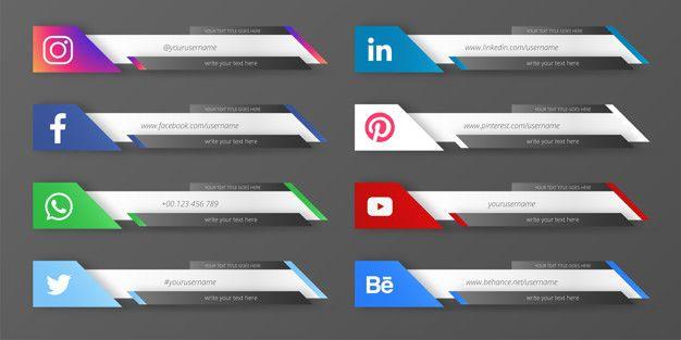Download Modern Social Media Lower Third Collection For Free Midias Sociais Vinhetas Banner De Fotos
