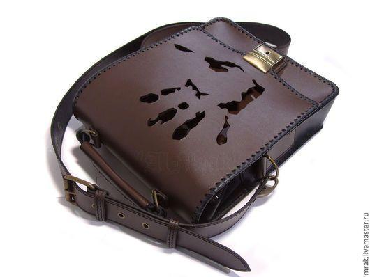 Мужские сумки ручной работы. Ярмарка Мастеров - ручная работа. Купить Сумка. Handmade. Коричненвая черная сумка, сумка унисекс