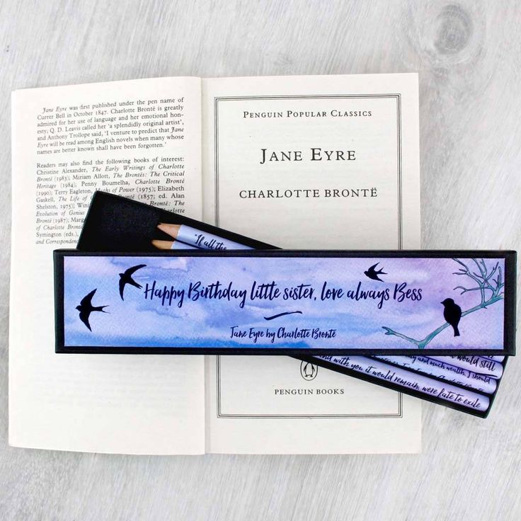 A thoughtful personalised gift for Charlotte Bronte Fans. Literary Jane Eyre stationery pencils #JaneEyre #CharlotteBronte #Bronte #literarygifts