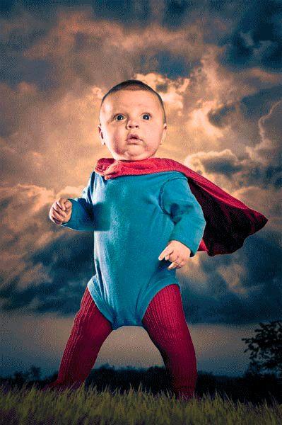 Super Baby Digital Composite Photo Illustration | Nicholas McIntosh Photography