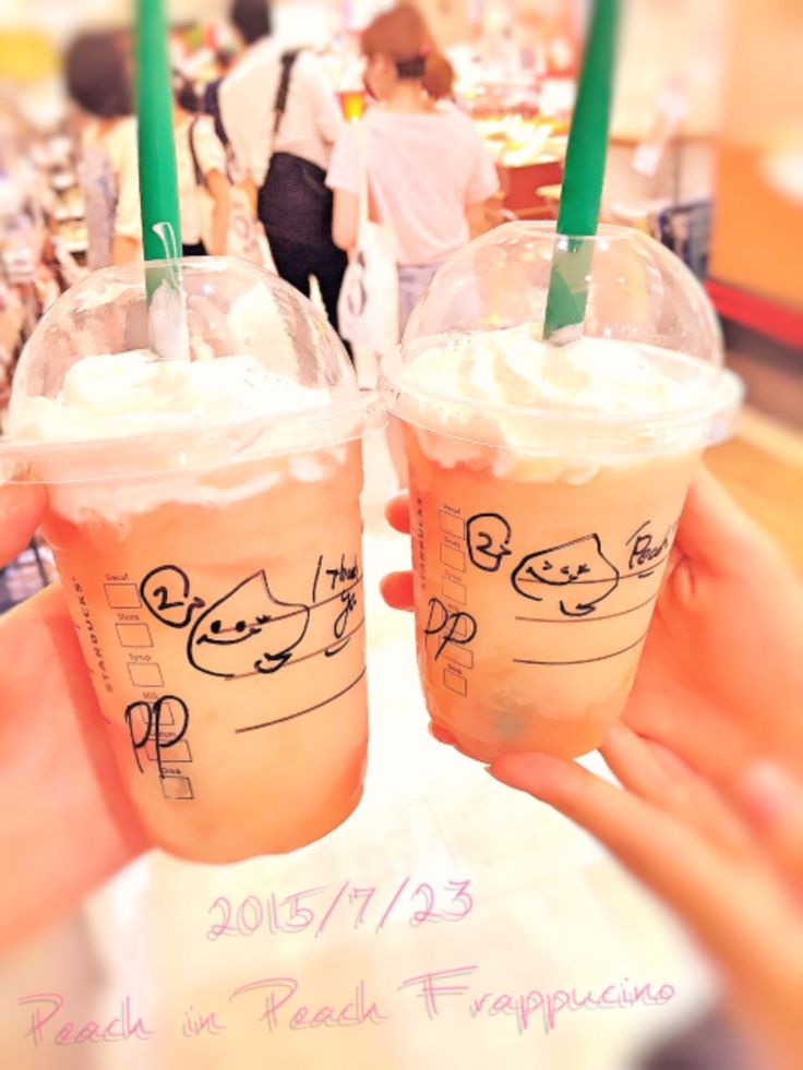 """I bought """"peach in peach frappucino"""" in ikebukuro(Japan)!  It is sweet and delicious."""
