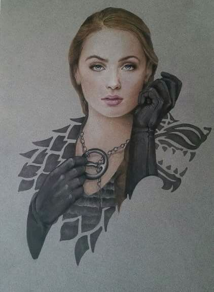 """I am Sansa Stark of Winterfell. This is my home and you can't frighten me"" http://jermsdraws.tumblr.com/post/122125315043"