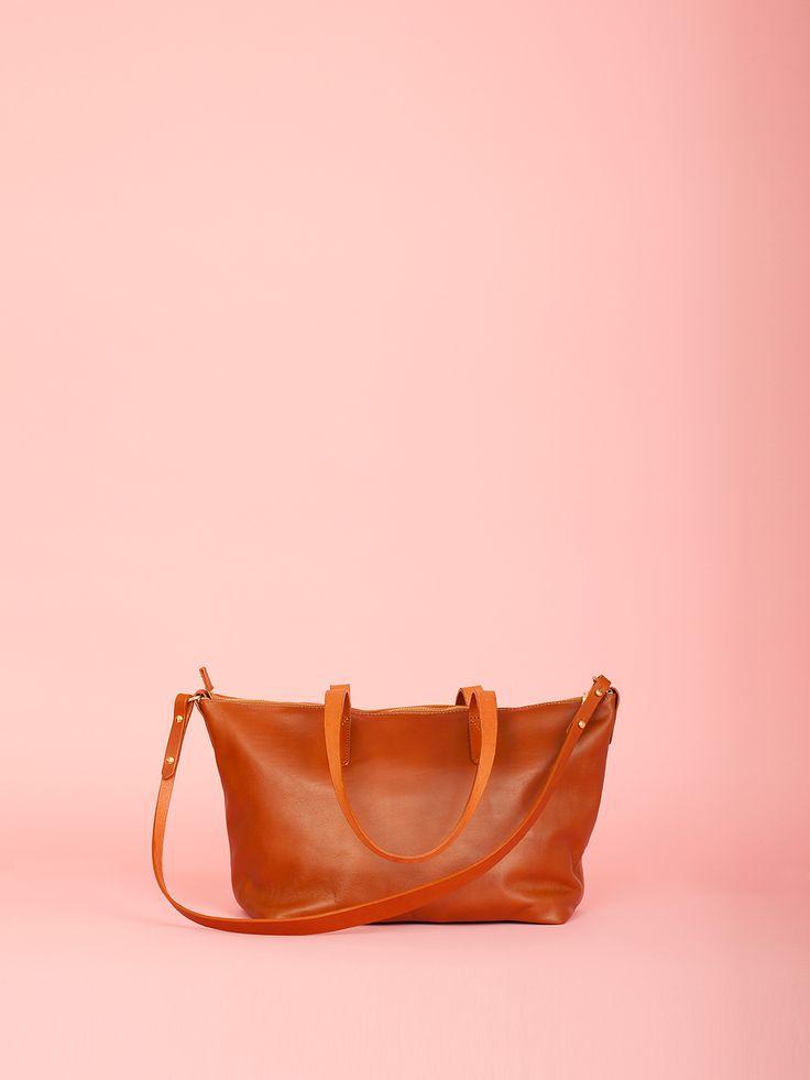 Juno - Tan Leather Bag, Mimi Berry SS16