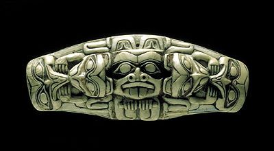 Shaman's Charm (Haida)  Bone, Queen Charlotte Islands, BC, Haida (courtesy ROM).