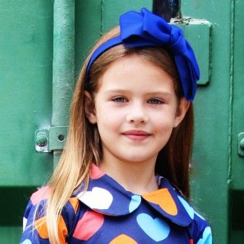 Blair Royal Blue Headband - Oobi.com.au  Be a Queen B in this stunning Royal Ble oversize bow headband, matches perfectly wth the regal Kate and Annabel Dress!