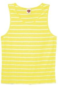 CITY B**CH SINGLET STRIPPED YELLOW AND WHITE WITH COTTON SLURB FABRIC