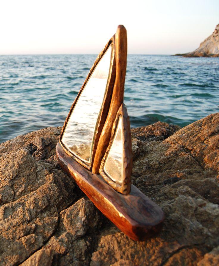 Driftwood Yacht Mirror