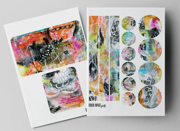 Altered Cahiers Moleskine Journals Tutorial Part One with Roben-Marie Smith. Featuring the Urban Fringe Art Pops Collection and free downloads. @robenmarie #mixedmedia #moleskine #journal #diy